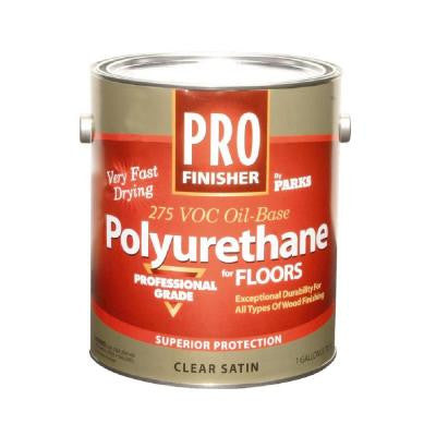 1 gal. Clear Satin 275 VOC Oil-Based Polyurethane (Case of 4)