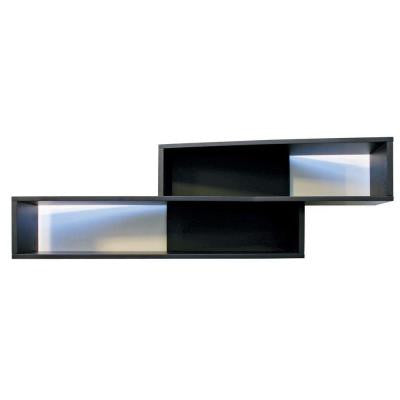 nexxt Luca 38 in. L MDF Angled Wall Shelf in Black