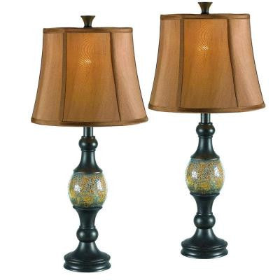 Shay 29 in. Bronze Table Lamp Set (2-Pack)