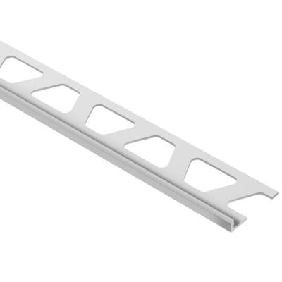 Jolly Classic Grey Color-Coated Aluminum 3/16 in. x 8 ft. 2-1/2 in. Metal Tile Edging Trim