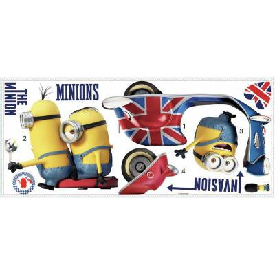 5 in. W x 19 in. H Minions the Movie 10-Piece Peel and Stick Giant Wall Decal