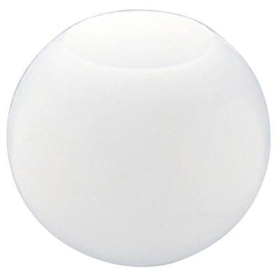 16 in. White Polyethylene Neckless Globe with 5-1/4 in. Top Opening