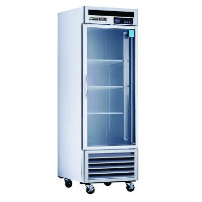 23 cu. ft. Single Glass Door Commercial Refrigerator in Stainless Steel