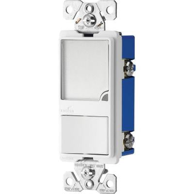 15-Amp 120-Volt Combination Switch with 1-Watt LED Nightlight - White