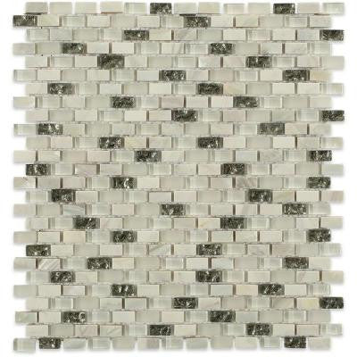 Paradox Enigma 12 in. x 12 in. x 8 mm Mixed Materials Mosaic Floor and Wall Tile