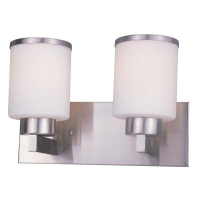 Lawrence 2-Light Brushed Nickel Incandescent Bath Vanity Light