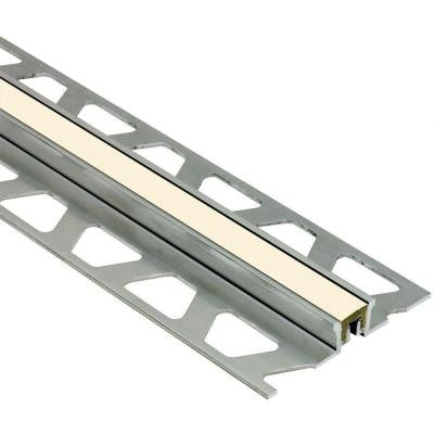 Dilex-KSN Aluminum with Sand Pebble Insert 13/16 in. x 8 ft. 2-1/2 in. Metal Movement Joint Tile Edging Trim