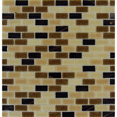 Desert Spring 12 in. x 12 in. x 6mm Glass Mesh-Mounted Mosaic Tile