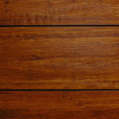 Strand Woven Distressed Dark Honey 1/2 in. Thick x Multi Width x 72 in. Length Solid Bamboo Flooring (21.98 sq.ft./case)