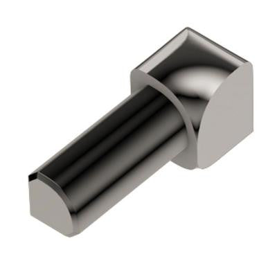 Rondec Polished Nickel Anodized Aluminum 1/4 in. x 1 in. Metal 90 Degree Inside Corner