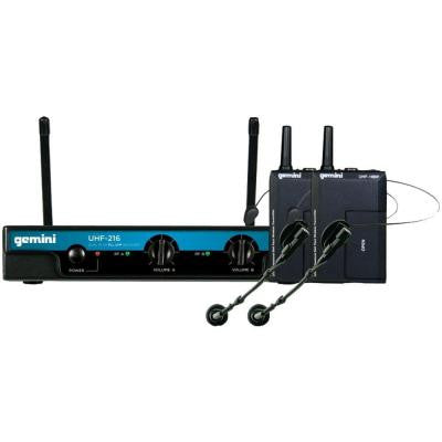 Dual-Channel Wireless Microphone System with 2 Headset Microphones and 2 Belt Pack Transmitters