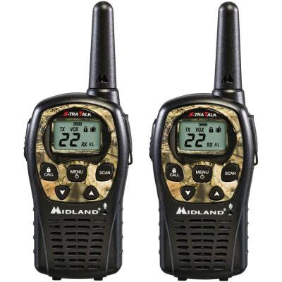 24-Mile 22 Channel 2-Way Radios - Camo (2-Pack)