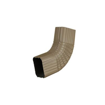 2 in. x 3 in. Natural Clay Aluminum Downspout B Elbow