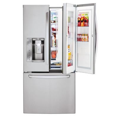 24.0 cu. ft. French Door Refrigerator in Stainless Steel Door-In-Door Design