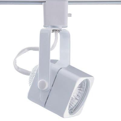 Series 15 Line Voltage GU-10 White Soft Square Track Lighting Fixture