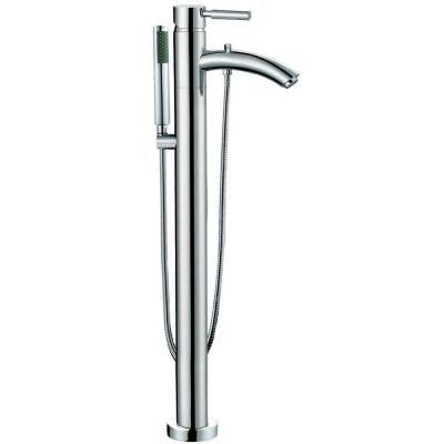 Taron Floor-Mounted Tub Filler in Chrome