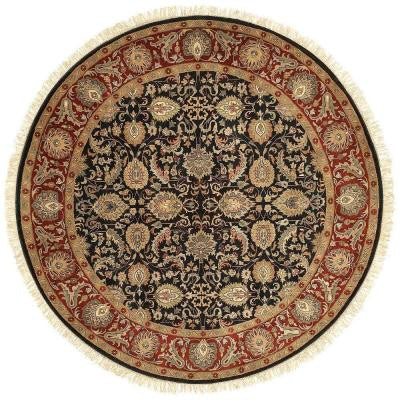 Lehi Black 8 ft. Round Area Rug