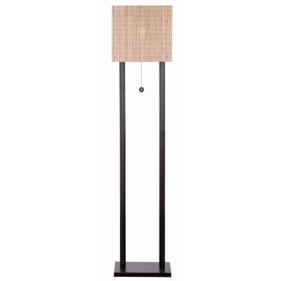 Offset 61 in. Bronze Floor Lamp