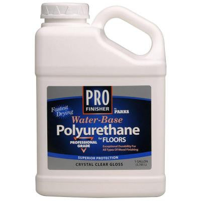 1 gal. Clear Gloss Water-Based Interior Polyurethane (Case of 4)