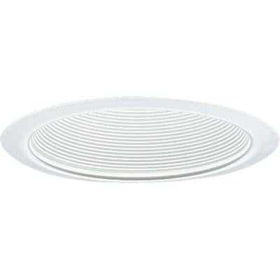 6 in. White Baffle Trim for Shallow Recessed Housings