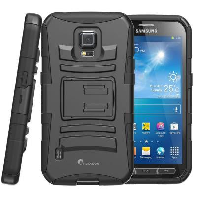 Galaxy S5 Active Prime Series Holster Case with Kickstand - Black