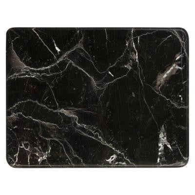 Brown 12 in. x 9 in. Polished Marble Cheese and Pastry Board
