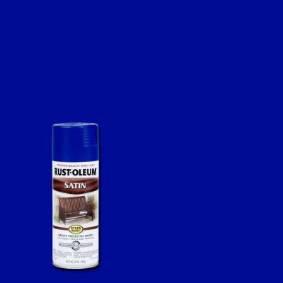 12 oz. Sapphire Satin Protective Enamel Spray Paint (Case of 6)