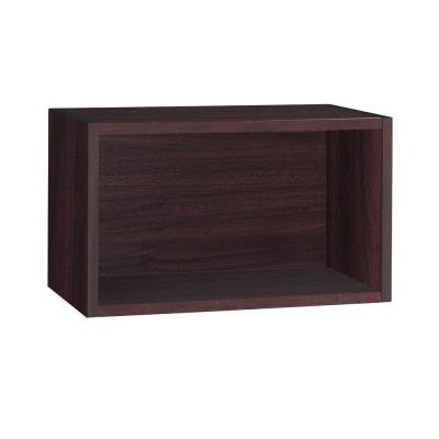 19.7 in. x 11.2 in. Espresso zBoard Wall Rectangle and Eco Decorative Shelf