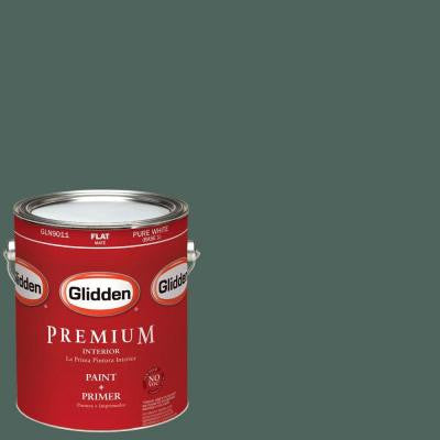 1-gal. #HDGG65U Deep Shaded Grove Flat Latex Interior Paint with Primer