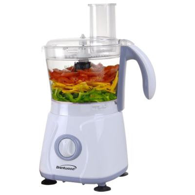 10-Cup Food Processor in White