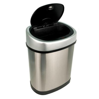3.2 gal. Brushed Stainless Steel Motion Sensing Touchless Trash Can