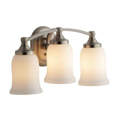 Bancroft 3-Light Vibrant Brushed Nickel LED Sconce