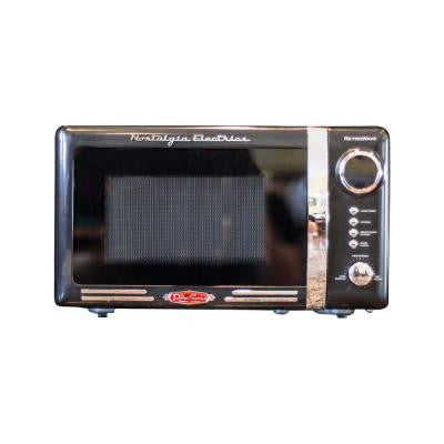 Retro Series 0.7 cu. ft. Countertop Microwave Oven in Black