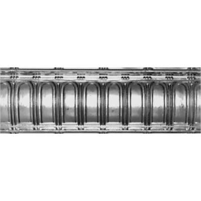 6 in. x 4 ft. x 6 in. Nail-up/Direct Application Tin Ceiling Cornice in Bare Steel (6-Pack)
