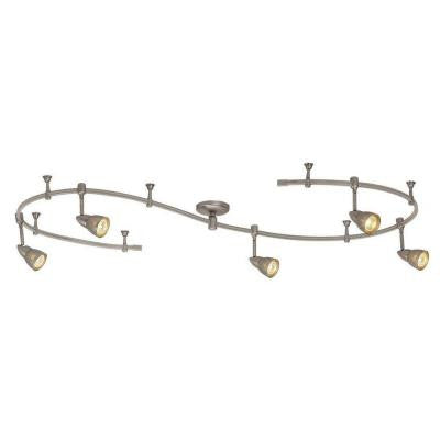 10 ft. Stainless Steel Line-Voltage Flexible Track Lighting Fixture Kit with 5-Mesh Shade