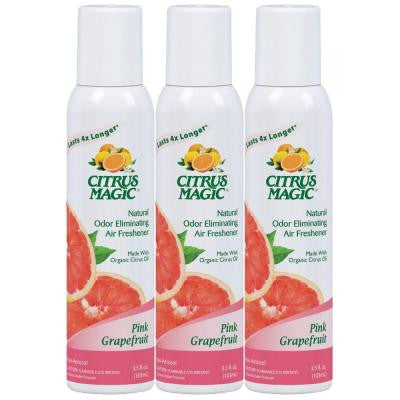 3.5 oz. Tropical Grapefruit All Natural Odor Eliminating Air Freshener Spray (3-Pack)