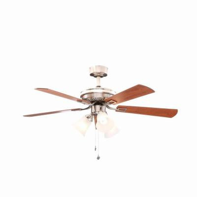 Sinclair 44 in. Brushed Nickel Ceiling Fan