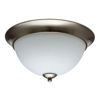 9 in. Brushed Nickel Fluorescent Elliptis Semi-Flush Mount Light