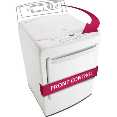 7.3 cu. ft. Gas Front Control Dryer in White