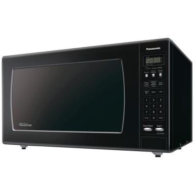 2.2 cu. ft. 1250 Watt Countertop Microwave in Black with Sensor Cooking and Inverter Technology