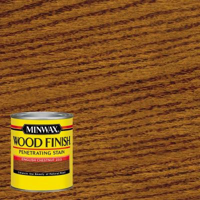 1 qt. Wood Finish English Chestnut Oil-Based Interior Stain