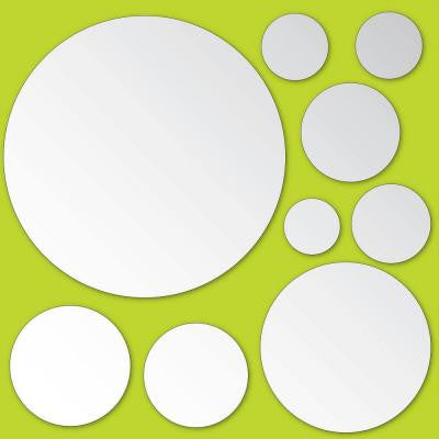 13.3 in. x 14.25 in. Mirror Art Circles Wall Decal