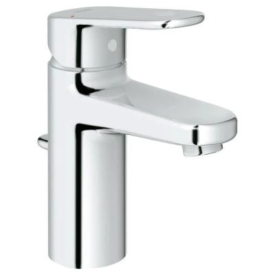 Europlus Single Hole Single Handle Low-Arc Bathroom Faucet in StarLight Chrome (Valve Included)