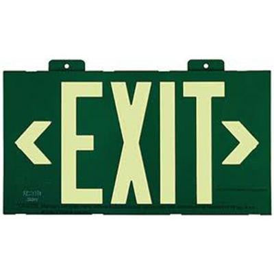 Nexis Green Framed Photoluminescent Exit Sign