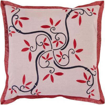 FlowersB 18 in. x 18 in. Decorative Pillow