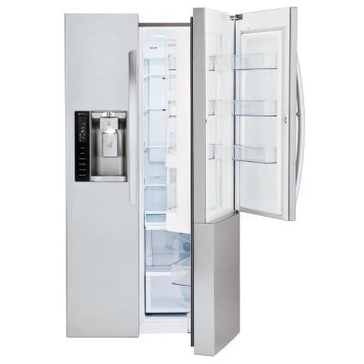 26 cu. ft. Side by Side Refrigerator in Stainless Steel with Door-in-Door Design