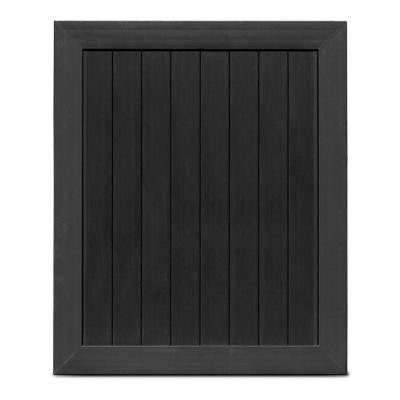 Pro Series 5 ft. x 6 ft. Black Vinyl Anaheim Privacy Fence Gate