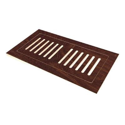 4 in. x 12 in. Engineered Hardwood Flush Mount Floor Register in Hand Scraped Moroccan Walnut