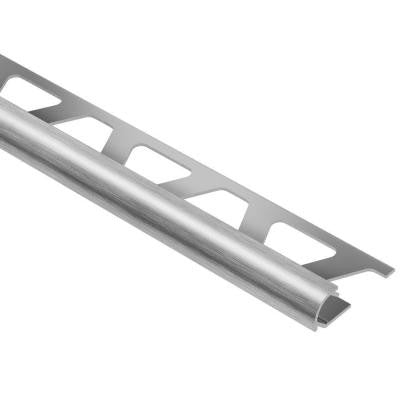 Rondec Brushed Chrome Anodized Aluminum 5/16 in. x 8 ft. 2-1/2 in. Metal Bullnose Tile Edging Trim