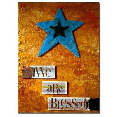 14 in. x 19 in. Star Canvas Art